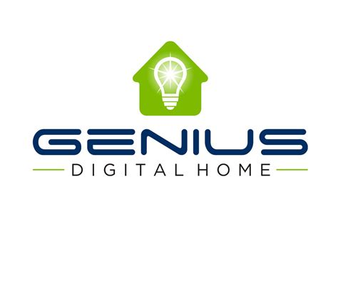 home automation logo design professional upmarket logo design for genius digital home