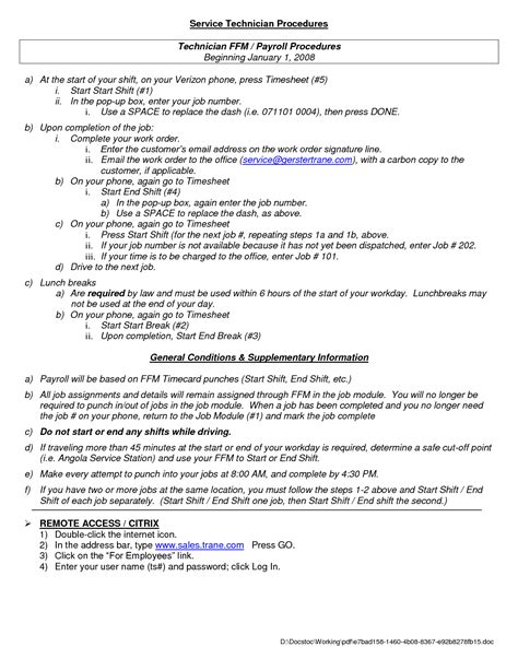 Sle Resume For Operation Technician hvac technician resume sle 28 images resume for hvac