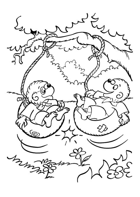berenstain bear coloring page berenstain bears halloween coloring pages coloring home