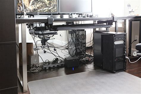 How To Organize A Tangled Mess Of Cables Under Your Desk How To Organize Wires On Desk