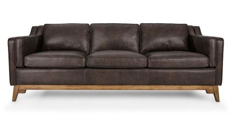 restain leather couch vintage brown leather mid century modern sofa