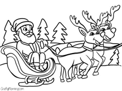 free coloring pages of santa s sleigh free printable christmas coloring pages for kids crafty