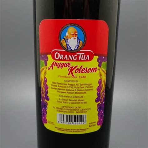 khasiat anggur kolesom cap orang tua 4 pusaka dunia