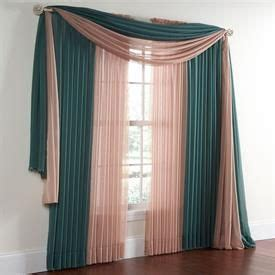 Zoya Kerudung Drawery Scraf brylanehome 174 studio sheer voile scarf valance and rod pocket panels curtains drapes