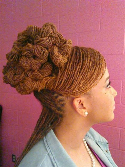 haircuts for sisterlocks sisterlocs twisted coiled updo by angela cooper