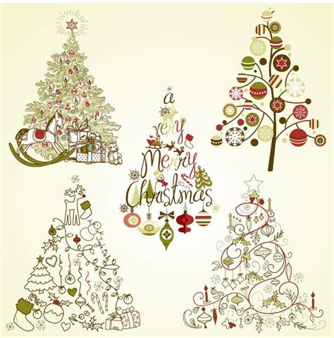 imagenes navidad vectores gratis 193 rboles navide 241 os vectores de arboles de navidad