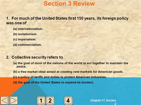 chapter 17 section 3 american foreign policy overview c h a p t e r 17 foreign policy and national defense ppt