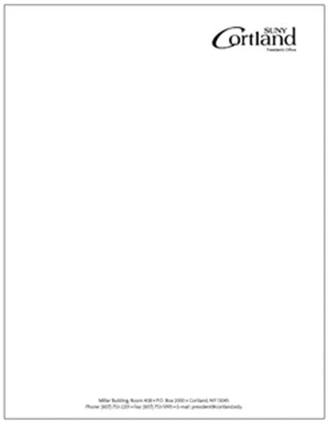 College Of Development Communication Letterhead Letterhead Suny Cortland