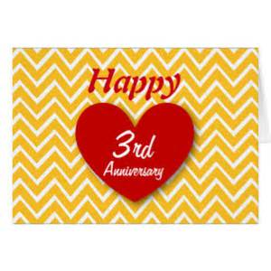 3 year anniversary cards zazzle