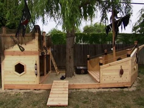 blue boat sandbox pirate ship playground plans woodworking projects plans