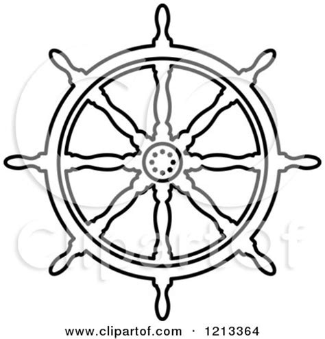 ship wheel template preview clipart