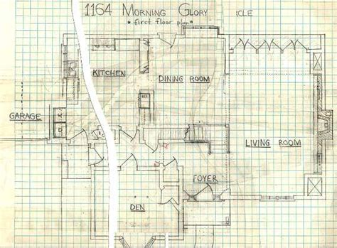 bewitched house floor plan 1164 morning glory circle adam s original 1164 drawings