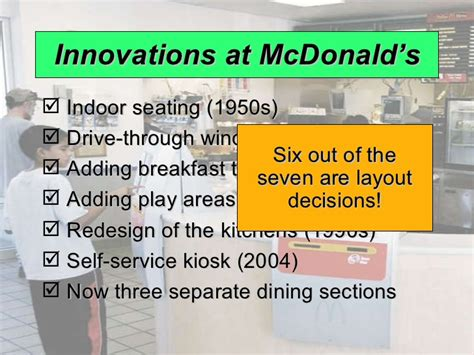 layout strategy for mcdonalds process and layout strategies