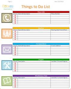Monthly To Do List Template 8 Weekly To Do List Template Authorizationletters Org