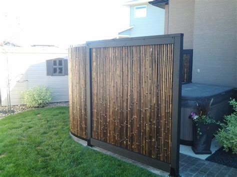 hot tub privacy curtains hot tub privacy screen made of bamboo outdoor flowers