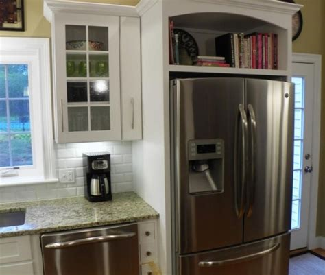 Shelf Above Refrigerator by Book Shelf Above Fridge Home Improvements