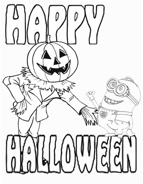 minion pumpkin coloring pages minion and jack o lantern halloween coloring page h m