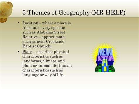 themes of physical geography 5 themes of geography mr help ppt video online download