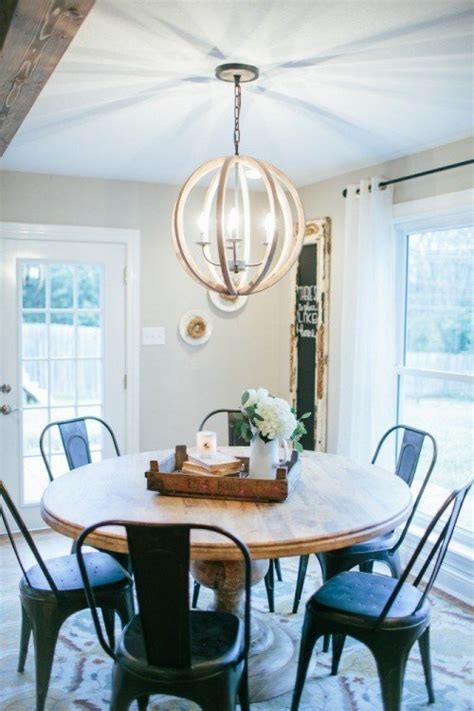 Dining Room Light Fixture The Magnolia Look 5 Ways To Bring It To Your Home
