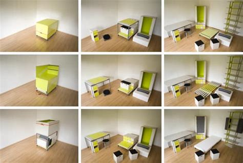 bedroom in a box room in a box transforming fold out furniture design