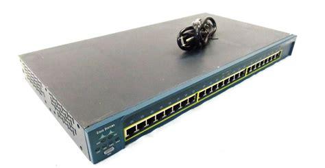 Switch Cisco 2950 24 Port cisco ws c2950 24 catalyst 2950 series switch one ru ports 24 10 100 ports ebay