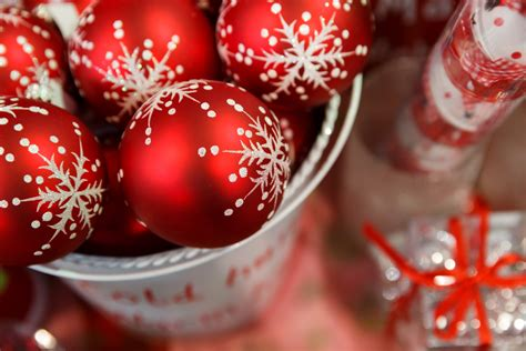 red christmas decoration free stock photo public domain