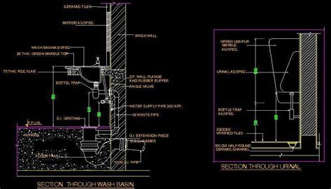 Home Design Floor Plan Software by Typical Section Of Wash Basin And Urinal Plan N Design