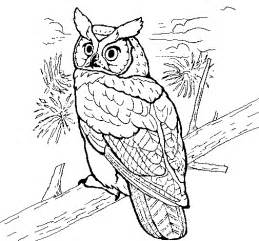 great horned owl coloring page coloringcrew com