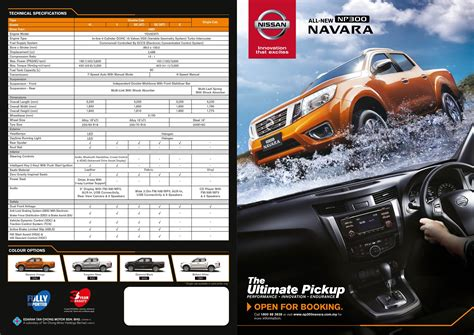 leaflet design price malaysia prices and details of all new nissan np300 navara
