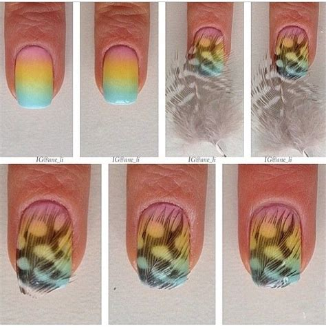 nail art drawing tutorial feather nails diy tutorial alldaychic