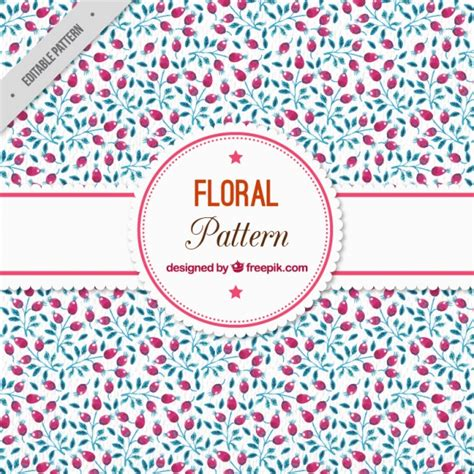 watercolor floral pattern vector free download watercolor floral pattern with berries vector free download