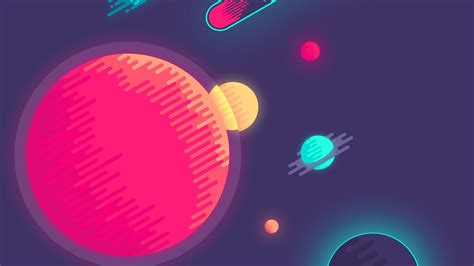 minimalist space minimalist outer space flat design wallpaper