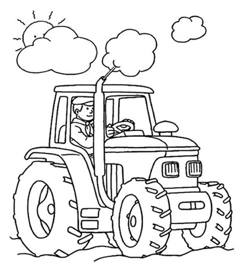 easy tractor coloring page 25 best tractor coloring pages to print http procoloring