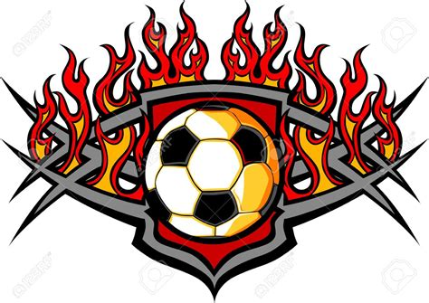 Free Clipart Flaming Soccer by Soccer On Clipart 82