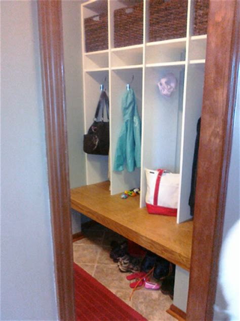 Closet Turned Mudroom by Mudroom Makeover Before And After Photos Momma Times At