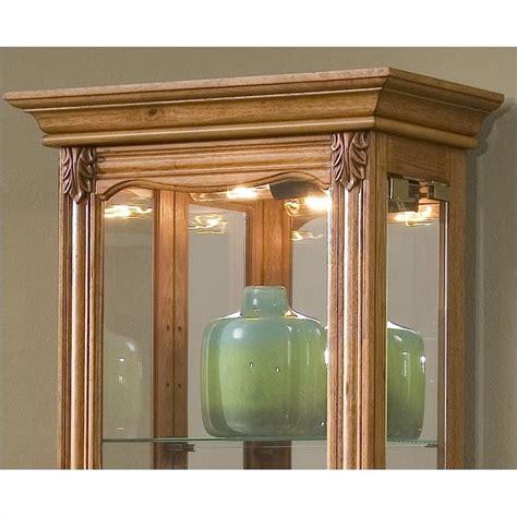 Pulaski Oak Curio Cabinet by Pulaski Curios Display Cabinet In Estate Oak 21214