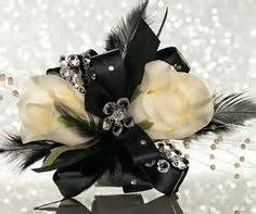 black and white corsage white corsage with black accents