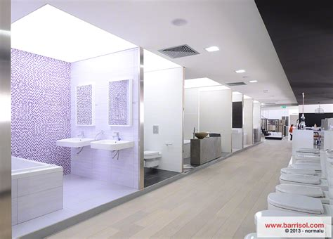 bathroom displays aapostolides barrisol gevo sanitaryware ceramics