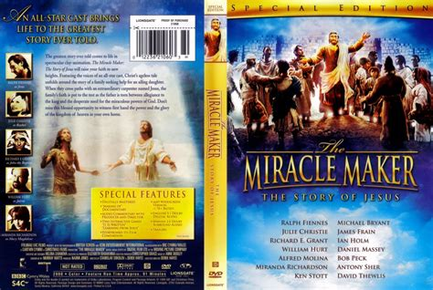 The Miracle Maker The Miracle Maker Dvd Scanned Covers 5171the Miracle Maker Dvd Covers