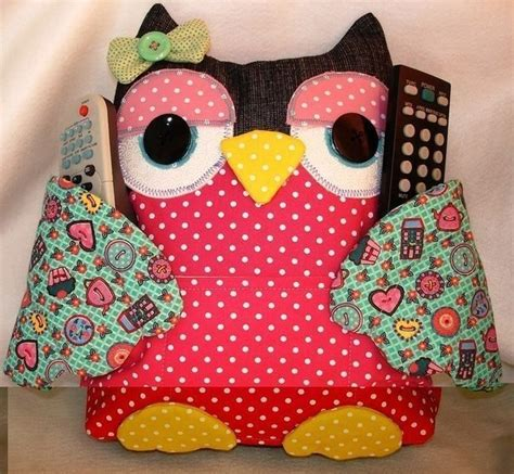 pattern for owl remote holder how to make patchwork owls sew handimania