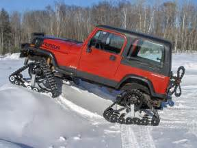 Truck Snow In Wheels American Track Truck Jeep Wrangler Snow Cat Trail Groomer