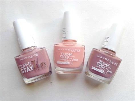 maybelline stay 7 days gel nail color beige touch sun kissed poudre review