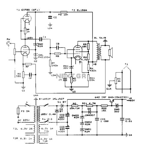 parallel push pull lifier schematic parallel get free
