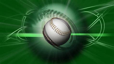 baseball backgrounds spinning baseball green background motion