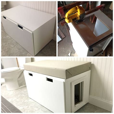 litter box in bedroom storage benches bedroom doors and litter box on pinterest