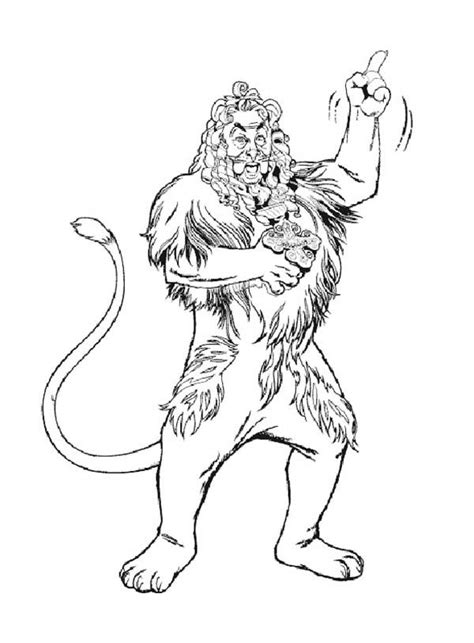 wizard of oz coloring pages lion the cowardly lion is confident in the wizard of oz