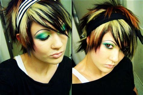 emo hair cuts front to back cortes de cabello y peinados emo para chicas primavera