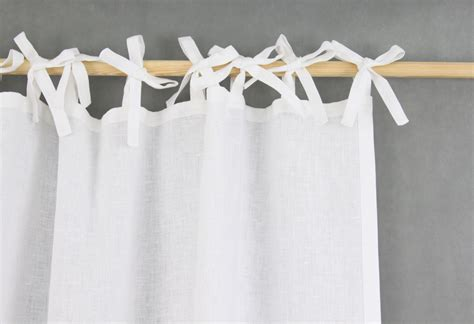 White Tie Top Curtains Homey White Tie Top Curtains Made Of Linen Scandinavian