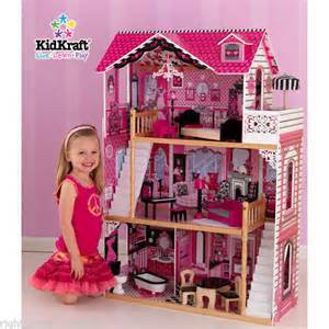 amelia kidkraft dolls house kidkraft amelia wooden kids dollhouse dolls house furniture fits barbie bnib ebay