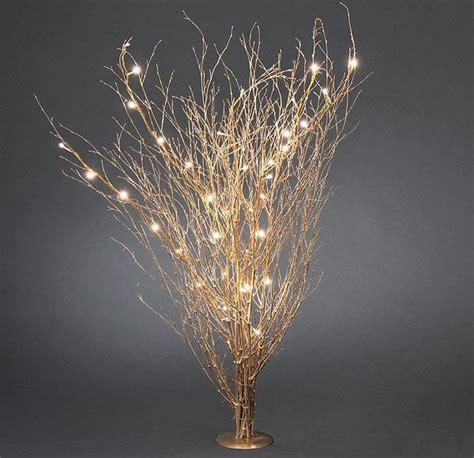 Konst Smide Set Of Gold Twigs With Led Lights Twig Lights